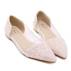 Fashion Glitter Color Block Pointed Toe Flats Pink/Black ($11.50) http://www.clubwholesale.net/shoes/flats