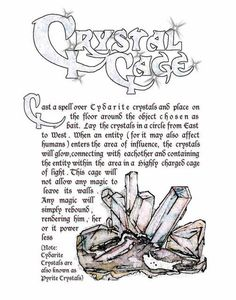 Charmed Series Book of Shadows: Crystal Cage » Metaphysic Study