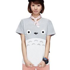 Harajuku Kawaii Cat Totoro T-Shirt Female 2017 Summer Short Sleeve Cotton T shirt Women Tops Graphic Tee Shirt Femme Tshirt