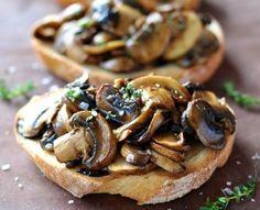 Mushroom Bruschetta with Balsamic and Thyme