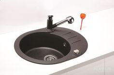 AS-Rialto 40 granite sink Granite Kitchen Sinks, Bathroom Design Inspiration, External Doors, Sink Drain, Home Accessories, Inspirational, Outdoor Doors, Outdoor Gates