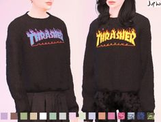 Thrasher Magazine - Hoodie - mesh needed - The Sims 4 Catalog Sims 4 Male Clothes, Sims 4 Cc Kids Clothing, Free Clothes, Clothes For Women, Women's Clothing, Sims 4 Hair Male, Sims 4 Tsr, Sims Cc, Sims 4 Mods