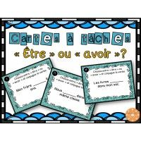 Cartes à tâches - être ou avoir ? Classroom Procedures, Classroom Activities, Daily 5 Writing, French Grammar, French Verbs, Classroom Arrangement, French Worksheets, Core French, French Classroom
