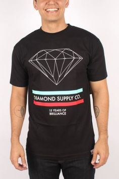 Diamond Supply Co. - Mens 15 Years of Brilliance T-Shirt in Black