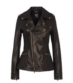 McQ black leather jacket----whew, this is HOT!!