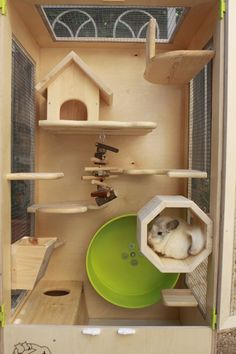 Wooden Chinchilla Cage