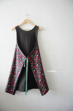 치명적인 화려함 4가지 앞치마.....네스홈 레트로 로즈 더솝린넨 : 네이버 블로그 Dress Sewing Tutorials, Linen Dresses, Baby Sewing, Frocks, Diy And Crafts, Dress Up, Stitch, Summer Dresses, Female