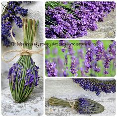Wonderful ideas for the lavender season Lavender Wands, Lavender Crafts, Lavender Wreath, Lavender Fields, Lavender Flowers, Lavender Bouquet, Nature Crafts, Garden Crafts, Sisal