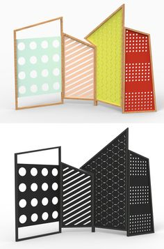 Colé Italian design label screens have great panel patterns and designs we could use as inspiration for LOFTwall panels.