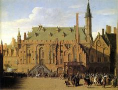 Pieter Saenredam – private collection. The Town Hall of Haarlem, with the Entry of Prince Maurits to Replace the Town Government,