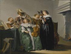 Pieter Codde  (1599-1678)  —  Elegant Company Making Music (2000x1525)