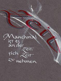 Spruchkarten - Calligraphy and Art German Words, Rainbow Birthday Party, Rainbow Art, Brush Lettering, True Words, Quotations, Love Quotes, Stress, Wisdom