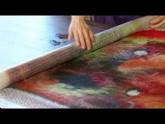 Making Texture with Nuno Felt on a Tunic - YouTube