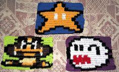 Figuras de Star,Goomba y Boo para mi manta 8 bit