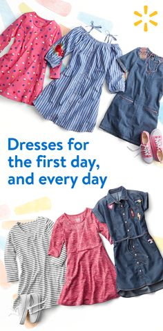 Discover a huge inventory of back to school dresses at prices you'll love. Start the year off right in styles from Walmart.