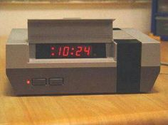 Nintendo repurposed as an alarm clock. This is brillant for those old consoles that are just collecting dust.