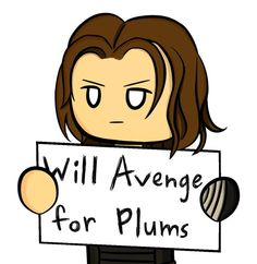 Bucky just really wants some plums poor Bucky . . . he just wanted to remember his dorito!