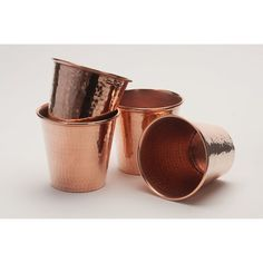 Hammered Copper Cups - Set of 4