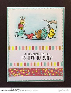 A darling card for the Hope You Can Cling To challenges at Splitcoaststampers!  HYCCT1507 A Little Birdie Told Me (LT)