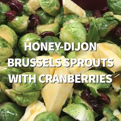 Honey-Dijon Brussels Sprouts, a festive sweet brussels sprouts side dish in a slow cooker, is a gorgeous sweet vegetable dish perfect for holidays. Crockpot Veggies, Crockpot Side Dishes, Vegetable Side Dishes, Side Dishes For Steak, Lentil Soup Recipes, Sprout Recipes, Veggie Recipes, Fish Recipes, Salads