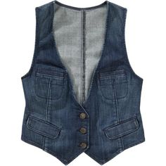 Old Navy Womens Dark-Wash Denim Vests ($22) ❤ liked on Polyvore featuring outerwear, vests, tops, jackets, denim waistcoat, blue denim vest, denim vest, vest waistcoat and old navy