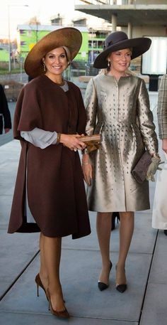 Queen Máxima of the Netherlands and Queen Mathilde of the Belgians