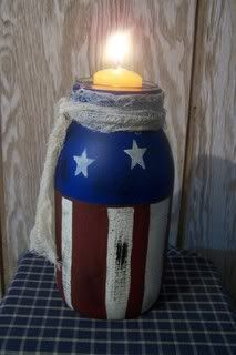Painted Jars (Americana Style) - Memorial Day to 4th of July to Pioneer Day Decor