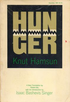 Hunger by Knut Hamsun. Book cover design by Milton Glaser. Found here.