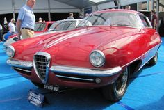 The coachbuilt 1955 Alfa Romeo 3500C SS coupe was first shown at the Turin Motor Show | Bob Golfen photos