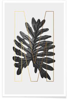 Plants M en Affiche premium par typealive | JUNIQE