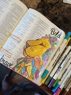 Bold as a lion, Bible Journaling