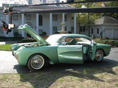 1955 Chevy Biscayne. This Harley Earl ultimate concept car was saved from the scrap heap and returned to motorama condition. via One Of A Kind: Cars on Velocity.