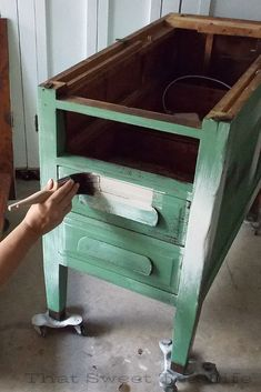 Dixie Belle paint in birchwood market green chalk mineral paint