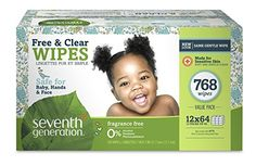 Seventh Generation Baby Wipes, Free & Clear Unscented and Sensitive, Gentle as Water, with Flip Top Dispenser, 768 count (Packaging May Vary) Baby Wipes Travel Case, Baby Wipe Case, Wipes Case, Baby Skin Care, Baby Care, Baby Wipe Holder, Baby Wipes Container, Baby Wipe Warmer, Soft And Gentle