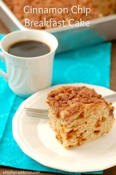 Cinnamon Chip Breakfast Cake - www.a-kitchen-addiction.com