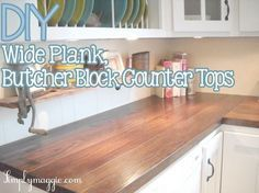 Wide Plank wood Countertops DIY is part of Diy butcher block counter - Welcome to Office Furniture, in this moment I'm going to teach you about Wide Plank wood Countertops DIY Home Renovation, Home Remodeling, Kitchen Remodeling, Farmhouse Renovation, Classic Kitchen, Kitchen Black, Diy Countertops, Countertop Redo, Affordable Countertops