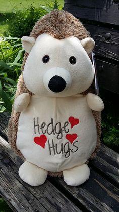 713d1a8743ff personalized baby gift, stuffed plush Hedgehog, stuffed animal, Hedgehog,  keepsake embroider buddy