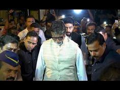 Amitabh Bachchan & Abhishek Bachchan at Om Puri's Funeral. Amitabh Bachchan, Funeral, Gossip, Om, Interview, Youtube, Pictures, Photos, Photo Illustration