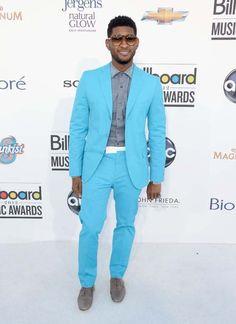 Electric Teal / Usher in Bottega Veneta / Billboard Music Awards (2012)