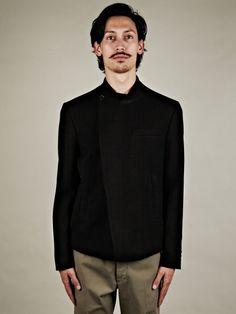 margiela for men | Maison Martin Margiela 10 Mens Crossover Jacket in Black for Men