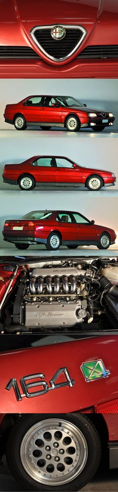 1996 Alfa Romeo 164 Q4 / 211hp 3.0 V6 / Italy / red