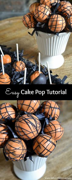 Easy Cake Pop Tutorial ... an easy recipe with everything you need to make these…