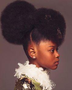 Beautiful African American girls natural hair