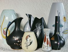 Vintage Tops, Retro Vintage, Mid Century Design, Vintage Ceramic, Beautiful Interiors, Pattern Art, Textures Patterns, Flora, Objects