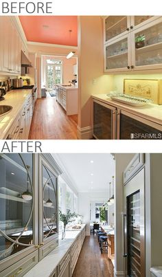 Before and After Kitchen Remodel Photos - Vintage Victorian Home Gets a Classic Kitchen - Dura Supreme Cabinetry designed by Gilmans #Kitchens and Baths and Noel Han, Interior Designer #vintage #victorian #KitchenDesign