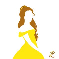 deviantART: Disney Princess Belle Beauty and the Beast Silhouette by ~Lytea