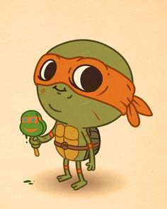 Turtles - pop culture characters get into ironic situations too