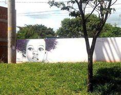 Creative street art in Rio de Janeiro, Brasil.