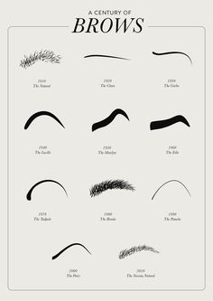 A CENTURY OF BROWS by Nathalie Hallman, via Behance