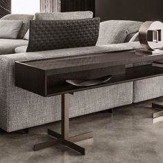 """Close """"Console"""" The close console table fuses functionality and tasteful, lasting design and is comfortably at home in either the living room or the bedroom. #minotti #minottispa #minottibeirut #console #luxury #luxurious #luxurydesign #luxuryhomes #style"""